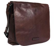 Tasche Messenger Bag Büffelleder dunkelbraun
