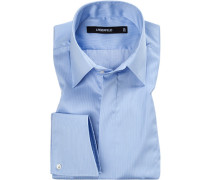 Hemd, Twill, hellblau gestreift