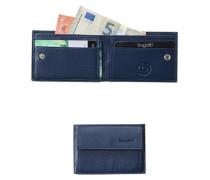 Herren   Geldbörse Leder blau