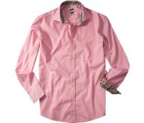 Hemd Slim Fit Baumwolle pink