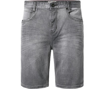 Jeansshorts Slim Fit Baumwoll-Stretch