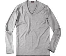 Pullover Wolle zementgrau