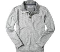 Pullover Troyer Baumwolle meliert