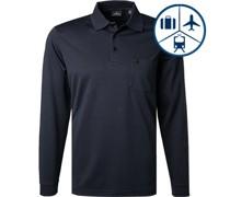 Polo-Shirt Polo Baumwoll-Jersey navy