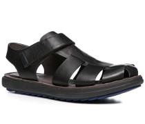 Herren Schuhe Sandalen Leder schwarz schwarz,grau