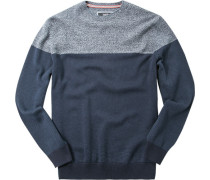 Pullover Baumwolle -dunkelblau gemustert