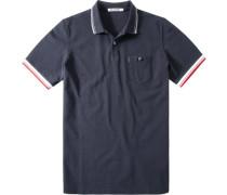 Herren Polo-Shirt Polo Modern Fit Baumwoll-Piqué navy blau
