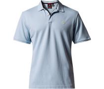 Polo-Shirt Polo Tailored Fit Baumwoll-Piqué hellblau