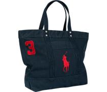 Tasche Shopper Canvas marineblau