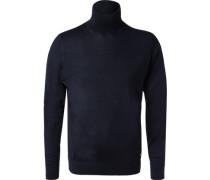 Rollkragenpullover, Wolle, navy