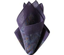 Herren Accessoires  Einstecktuch Wolle lila paisley violett