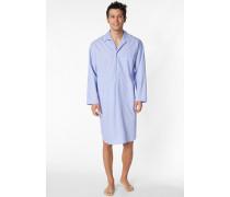 Herren Nachthemd Baumwolle hellblau
