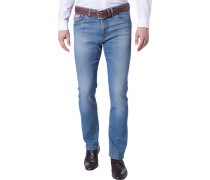 Herren Jeans Body Fit Baumwoll-Stretch Superflex denim blau