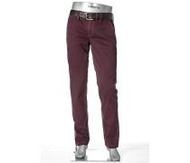 Hose Lou, Regular Slim Fit, Pima Cotton, purpur