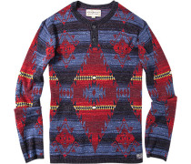 Pullover Baumwolle -rot gemustert