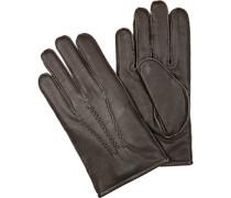 Herren  Handschuhe Lammleder dunkelbraun