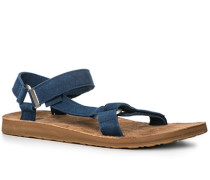Schuhe Sandalen Nubukleder saphirblau