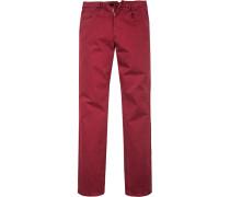 Herren Jeans Modern Fit Baumwoll-Stretch rot