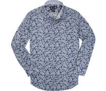Hemd, Modern Fit, Popeline, paisley