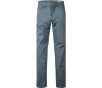 Herren Jeans Regular Fit Baumwoll-Stretch pastellblau beige