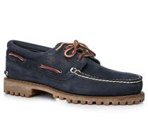 Bootsschuhe Leder navy