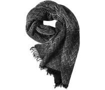 Schal Alpaka-Wolle hellgrau- gemustert