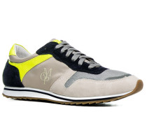 Herren Schuhe Sneaker Textil-Veloursleder-Mix sand beige