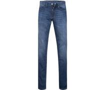 Blue-Jeans Slim Fit Baumwoll-Stretch jeansblau