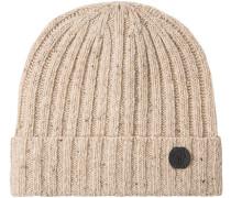Mütze Wolle-Kaschmir natur meliert