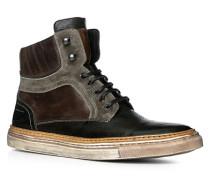 Herren Schuhe Stiefeletten Rindleder-Mix dunkelbraun braun,schwarz