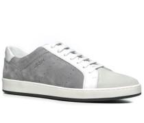 Schuhe Sneaker Leder weiß-grau