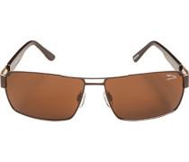 Herren Brillen  Sonnenbrille Metall dunkelbraun-braun