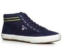 Herren Schuhe Sneaker Canvas marineblau blau,weiß