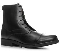 Schuhe Schnürstiefeletten Glattleder