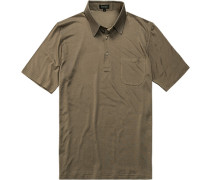 Polo-Shirt Polo Seiden-Jersey taupe