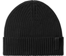 Herren   Mütze Baumwolle-Kaschmir-Mix schwarz