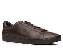 Herren Schuhe Sneaker Leder Ortholite® dunkelbraun braun,beige