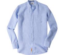 Leinenhemd Regular Fit hellblau meliert