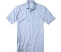Herren Polo-Shirt Polo Baumwoll-Piqué hellblau