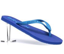Schuhe Zehensandalen Gummi azurblau-hellblau