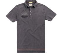 Polo-Hemd, Baumwolle, dunkelgrau