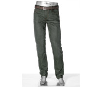 Herren Jeans Regular Slim Fit Denim grün
