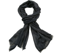 Schal Baumwolle dunkelblau gestreift