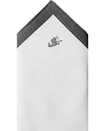 Accessoires Einstecktuch Baumwolle braun-weiß