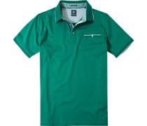Herren Polo-Shirt Polo Baumwoll-Jersey smaragdgrün