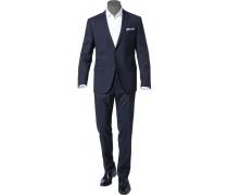 Herren Anzug Sharp Fit Schurwoll-Stretch nachtblau