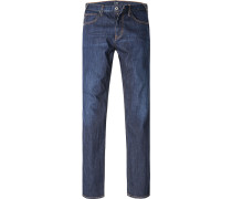 Blue-Jeans Slim Fit Baumwoll-Stretch denim