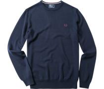 Pullover Merinowolle marineblau