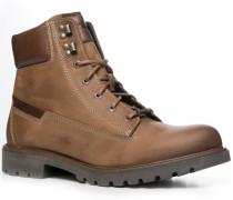 Herren Schuhe Schnürstiefeletten Glattleder GORE-TEX® hellbraun braun,beige