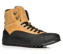 Herren Schuhe Schnürboots Leder beige-schwarz beige,grau